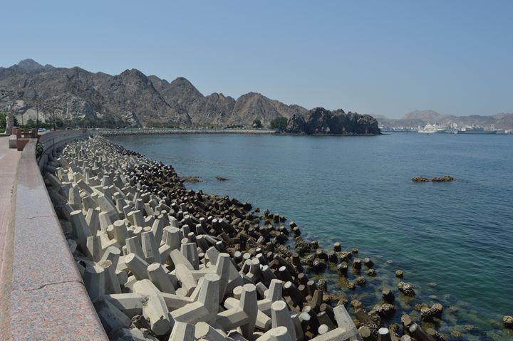 The Corniche in Muttrah, Muscat - Art Arcade
