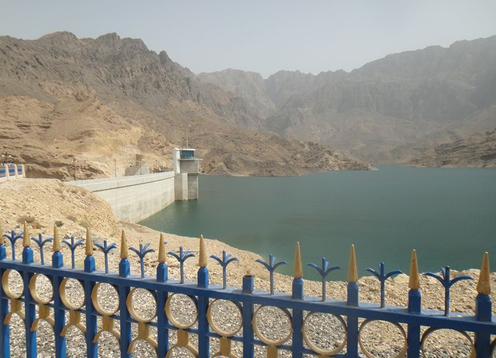 View of Lake - Dayqah Dam, Oman - Art Arcade