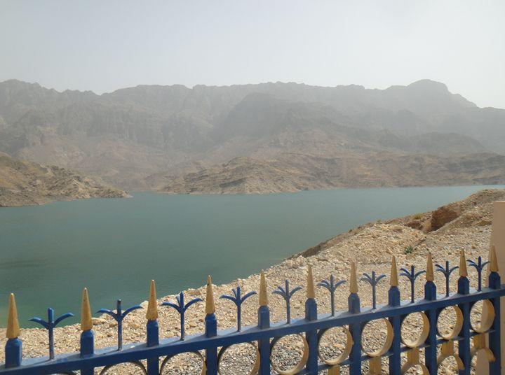 View of the lake - Dayqah Dam, Oman - Art Arcade