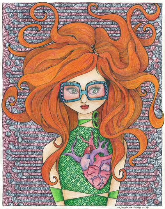 Girl with Rose-Tinted Sunnies - LoveandtHeart