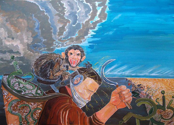 The Massacre of reflections - Lazaro Hurtado Art