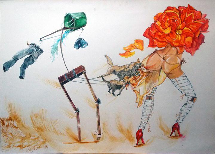 Tyrants of Desire - Lazaro Hurtado Art