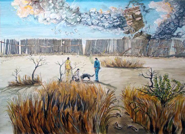 Traces of inner struggles - Lázaro Hurtado Art
