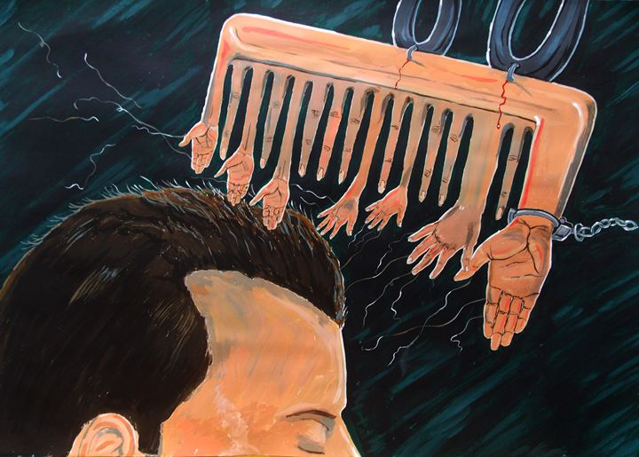 To comb social reactions - Lázaro Hurtado Art
