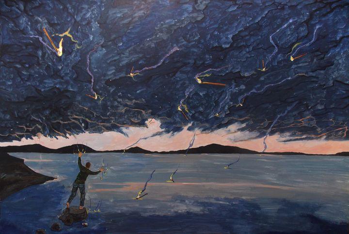 A sea of thoughts - Lazaro Hurtado Art