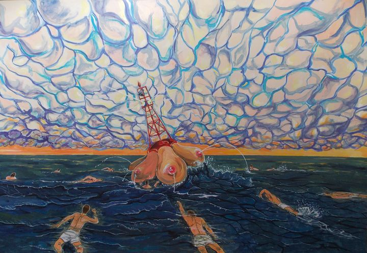 Sea bouy, or the calling of drives - Lazaro Hurtado Art