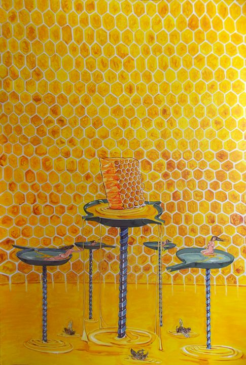 The honey in lives - Lazaro Hurtado Art