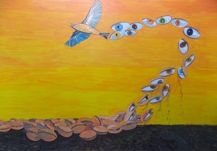 The waking of visions - Lazaro Hurtado Art