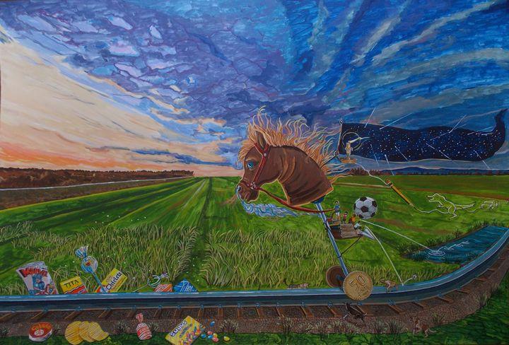 Revisiting, the childhood ride - Lázaro Hurtado Art