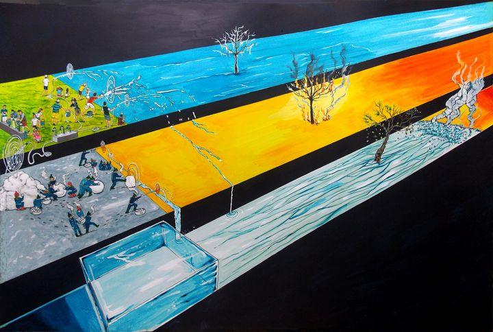 Playing with the states of matter - Lazaro Hurtado Art