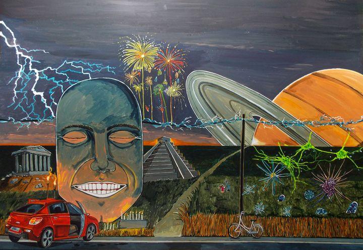 A notion of happiness - Lázaro Hurtado Art
