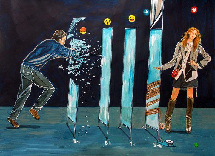 Flirting in the age of social media - Lazaro Hurtado Art