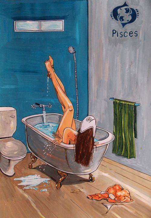 Pisces - Lázaro Hurtado Art