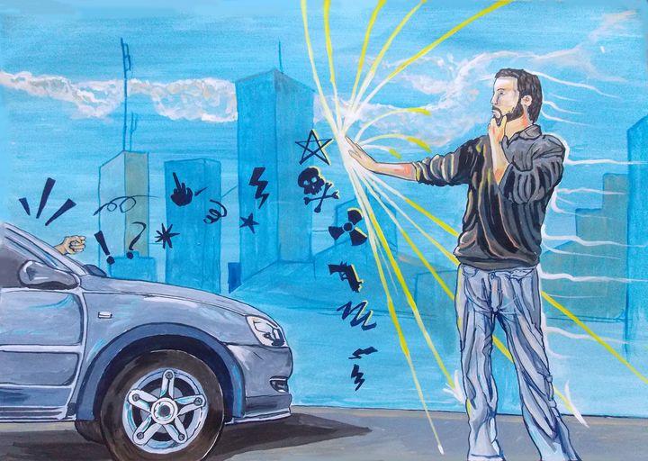 Those moments, mine Stopping traffic - Lazaro Hurtado Art