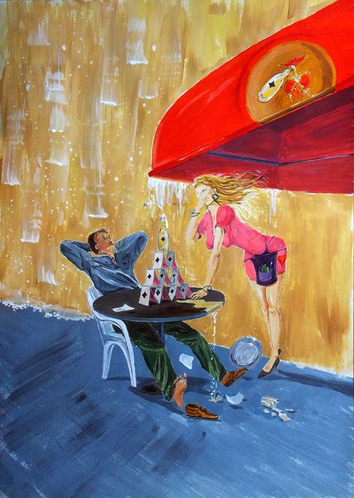 Drink and Play - Lazaro Hurtado Art