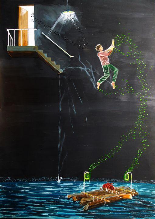 Jumpinto the river - Lazaro Hurtado Art