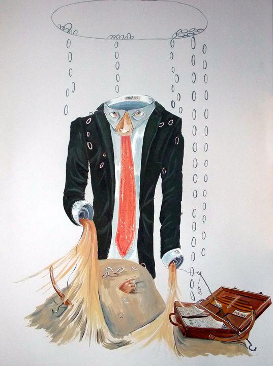 The Weariness - Lazaro Hurtado Art