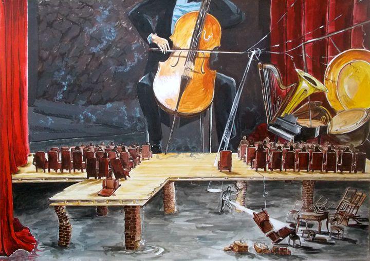 The last concert - Lazaro Hurtado Art