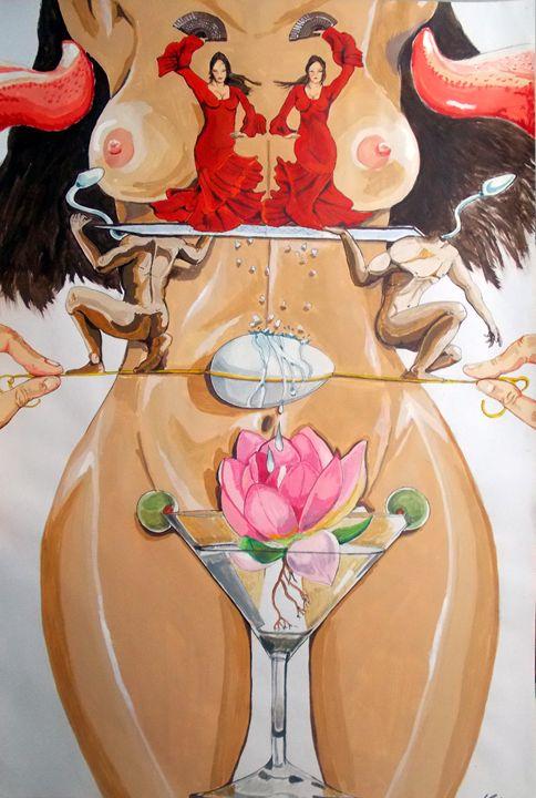 Flamenco of fertility - Lazaro Hurtado Art