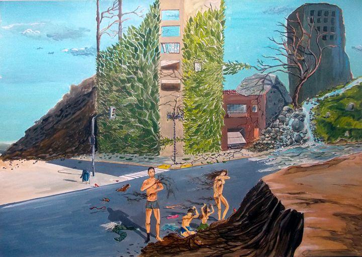 Time for an earth bath - Lázaro Hurtado Art