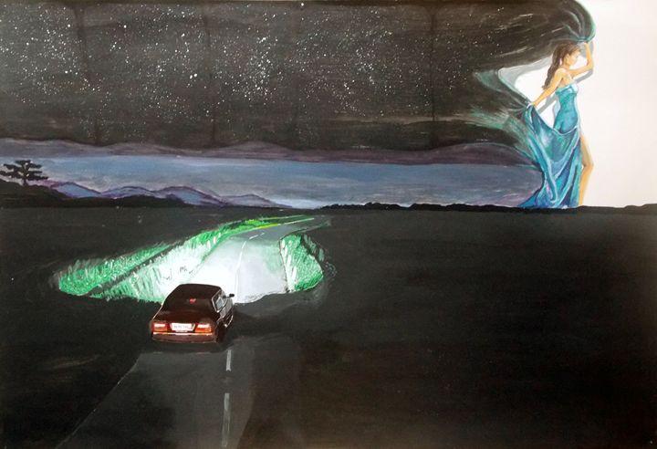 The Night starts to walk - Lázaro Hurtado Art