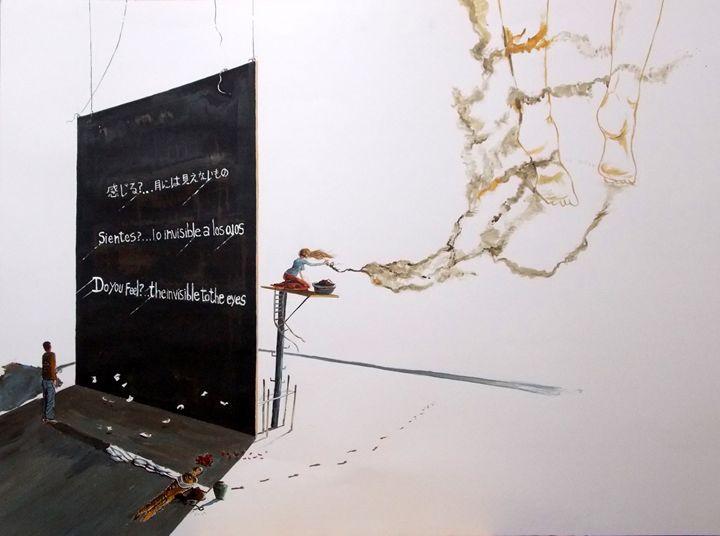 Do you feel...the invisible to eyes - Lazaro Hurtado Art
