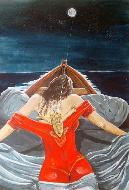The Whims of the Moon - Lazaro Hurtado Art