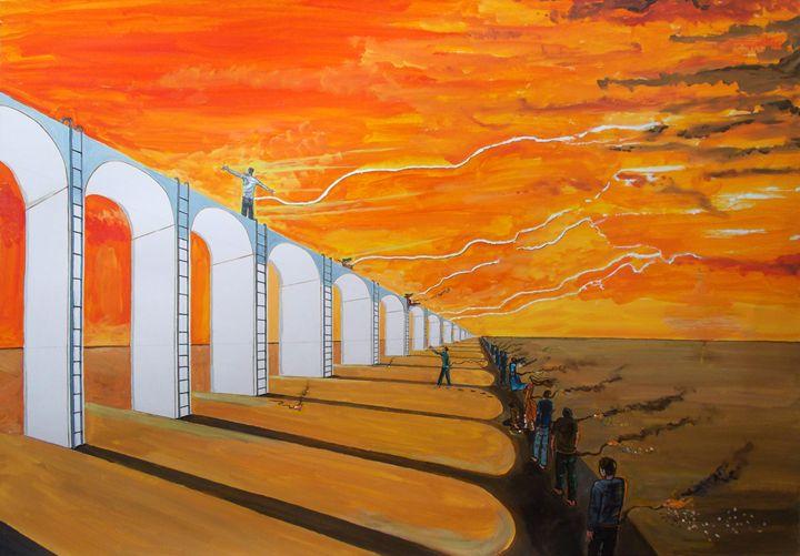 Mirages of Lives. The Path - Lazaro Hurtado Art