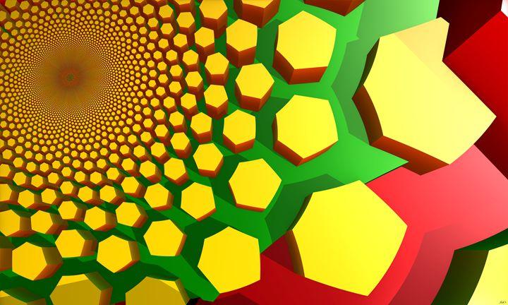 SunHive - FuzzyEdges' Fractal Art