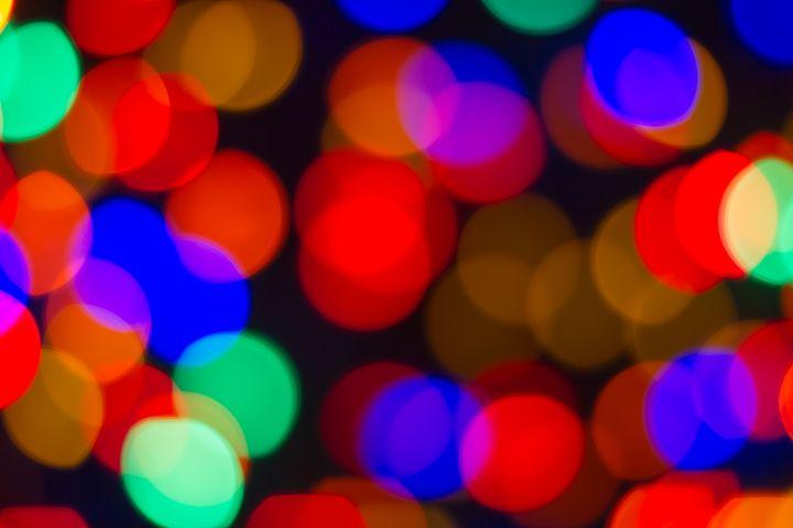Colorful Christmas lights bokeh bg - Freebilly Photography Portland
