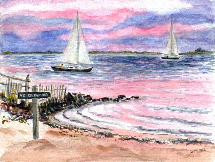 Cedar Beach in the pinks - BeymArt