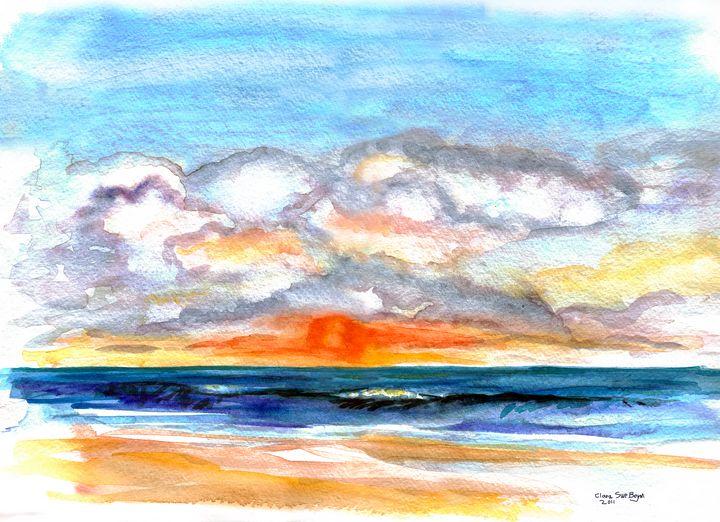 Sunrise on ocean - BeymArt