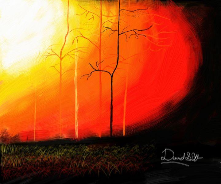 Burning forest - David SBV