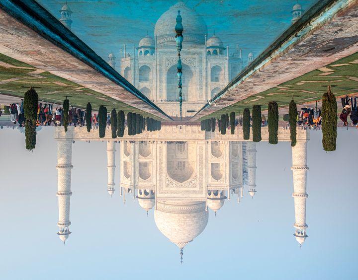 Taj Mahal reflected in pool - Nathan Jones