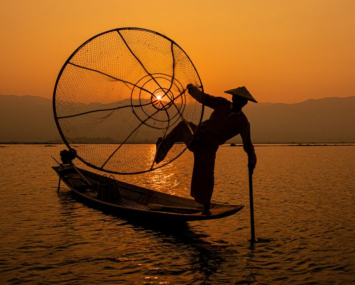 Inle Lake Fisherman - Nathan Jones