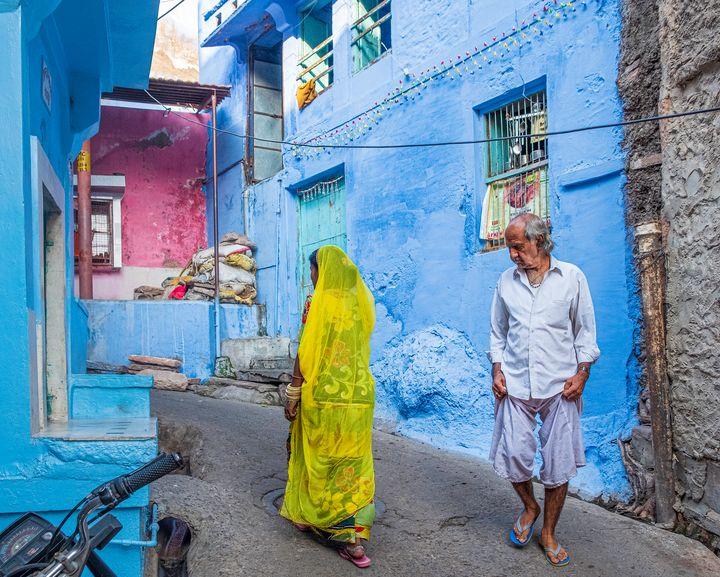 Indian street scene - Nathan Jones