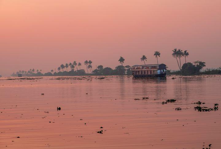 A boat on the Kerala backwaters - Nathan Jones