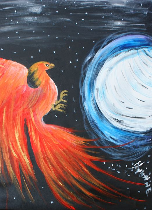 Red Phoenix - Art By Yvonne Sewell