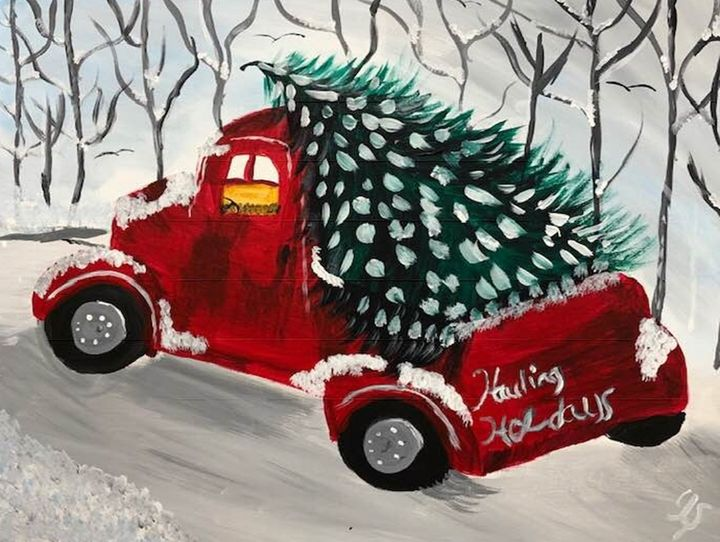 Hauling Holidays - Art By Yvonne Sewell
