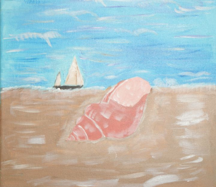 Seashell on Beach - Art By Yvonne Sewell