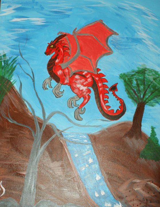 Red Dragon - Art By Yvonne Sewell
