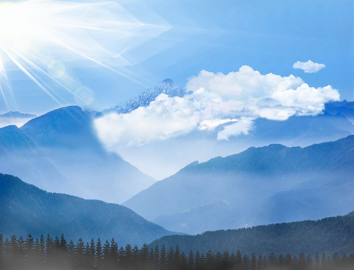 Mountain Wall Art - Foggy Morning - Wall Art By AceMe