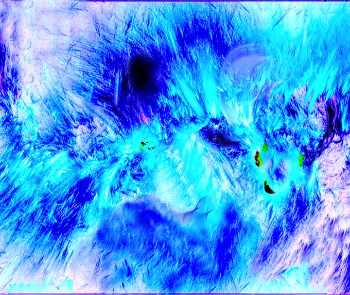 Blue Abstract Art - Blue Storm - Wall Art By AceMe