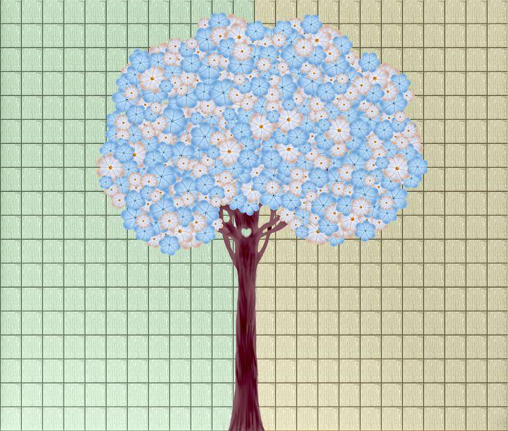 Wall Art Flower Tree - Wall Art By AceMe