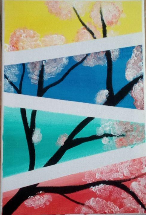 Cherry Blossom - Acrylic Paintings