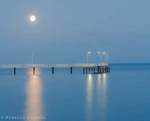 moonlight on a jetty