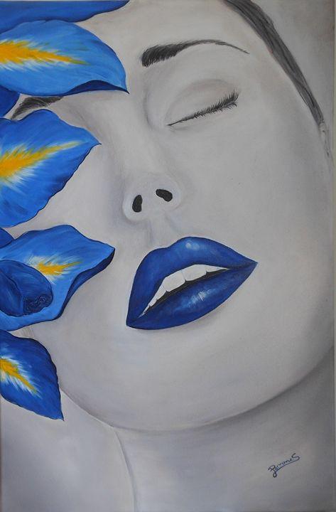 Blue face - Silvia Perrone