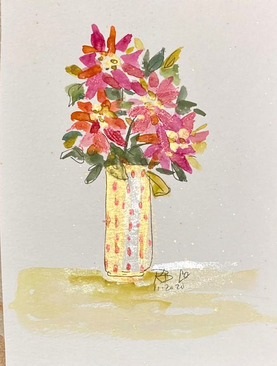 Holiday Flowers - Art by Karen Dale