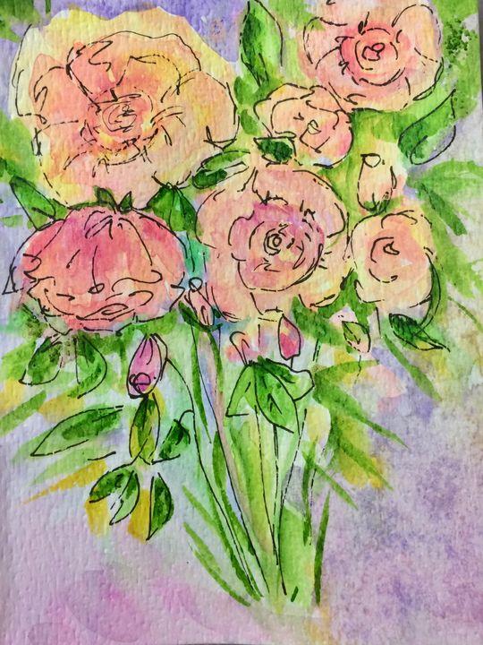 Floral Impressions - Art by Karen Dale