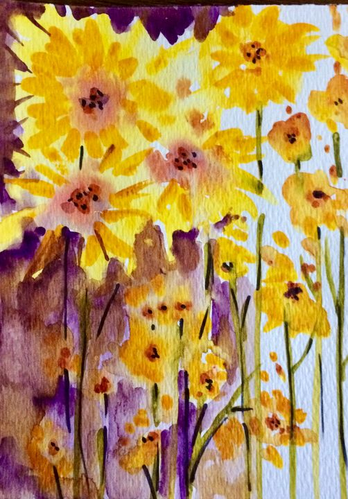 Sunshine for a Rainy Day - Art by Karen Dale